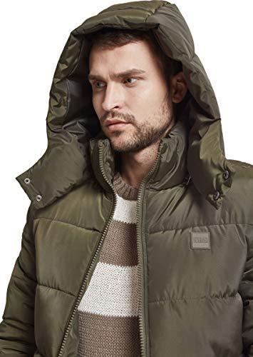 Urban Classics Herren Jacke Hooded Puffer Jacket, Darkolive, S - 5