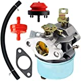QAZAKY Carburetor With Mount Gasket Fuel Filte Primer Bulb Fuel Line for Tecumseh 640298 5.5hp OH195SA 7hp OHSK70 4-cycle Engine Snowblower Carburettor