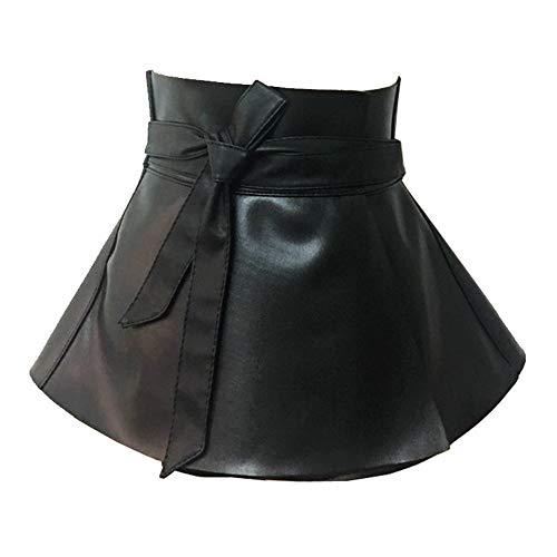 Junjiagao Damen Body Harness Taille Gurtband Punk Leder Korsett Rock Kleid Kostüm Party Stage Performance (Farbe : Schwarz) (Kostüm Schwarzen Korsett)