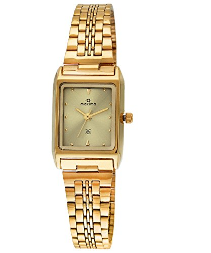 Maxima Formal Gold Analog Multi-Colored Dial Women's Watch - 06111CMLY image