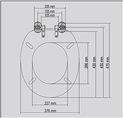 TrendLine WC – Sitz Soft mit Strass weiss MDF Absenkautomatik Metallscharniere