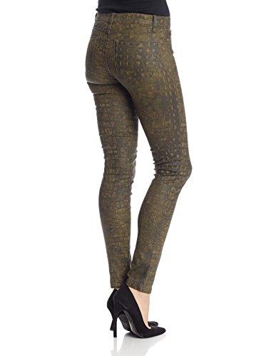 Oranjeans - Slim Fit Hose für Damen mit 5 Taschen Grünes Krokodil