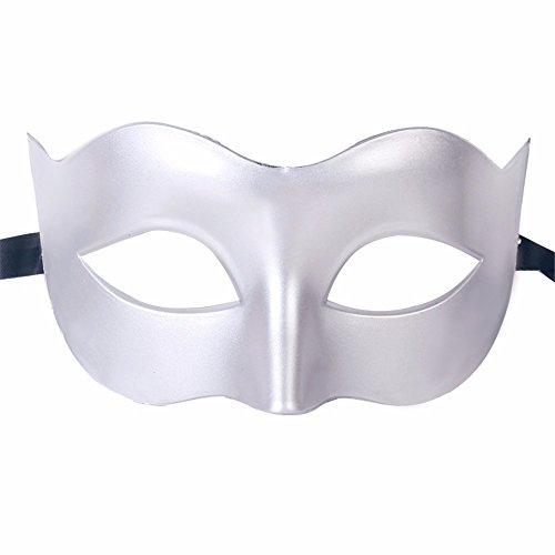 ,Halloween Kostüm Tanz Maske halbes Gesicht Tanz Maske Flache Maske männliche Maske weiblich weiß Masquerade ()