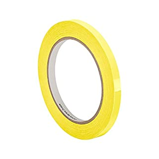 tapecase 560,5cm X, (pk-2) gelb Polyester Film Isolierband, 5,8cm Dick, 182,9cm Länge, 0,5cm Breite (2Stück)