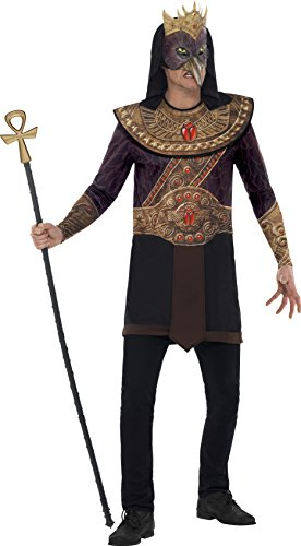 Smiffy's 43731L - Horus Gott des Himmels Kostüm mit Sublimationsdruck Tunika Kragen und Mask