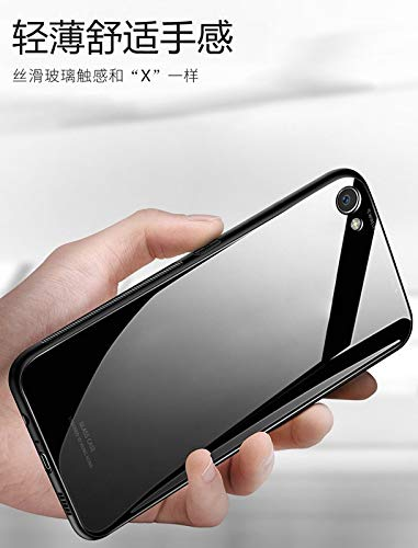 separation shoes e5e3e bdf4d Oppo F7 Back Cover Mobistyle - Luxurious Toughened Glass Back Case with  Shockof TPU Bumper Back Case Cover for Oppo F7