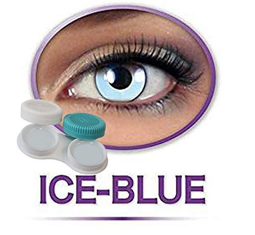 Kostüm Halloween H20 - KarnevalsTeufel Kontaktlinsen farbig ohne Stärke- hellblau Engel Icefee blau Eisfee Motivlinsen