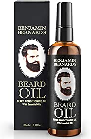 Beard Oil - Beard Grooming Conditioner Oil for Men by Benjamin Bernard - Encourage Healthy Beard Growth, Well-