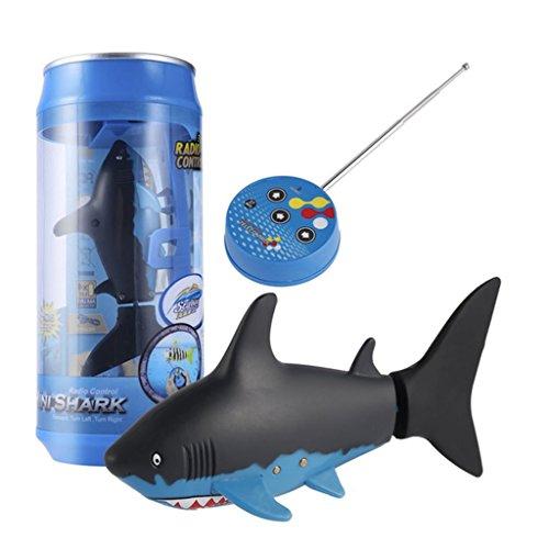 Elektronische Ferngesteuerter Roboter Fisch Schwimmen Hai Fisch Roboter Spielzeug für Kinder Wasser Spaß - Schwarz