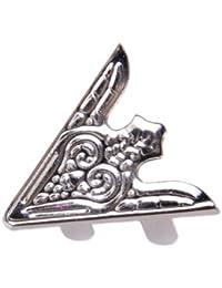 SODIAL (R) 6 ¡Á Camisa collar clips de metal - plata