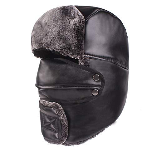 2569957772ffe CDXDSV Hombres Mujeres Impermeable Espesar Más Terciopelo Ushanka Trapper  Hat con Tapa máscara Sombrero Ruso Cap