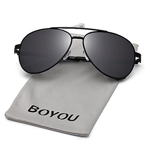 BOYOU Sonnebrille Fashion Mirrored Metal Frame Women Sunglasses