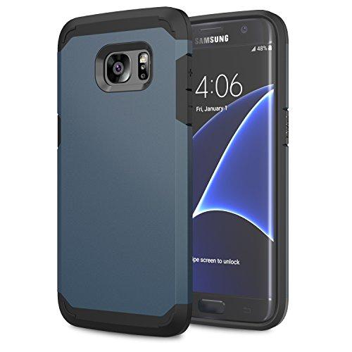 Moko galaxy s7 edge case - [serie armatura ibrido] [protezione dual layer] custodia angoli tecnologia a cuscino d'aria + paraurti per samsung galaxy s7 edge 5.5 inch smartphone 2016 release, indaco