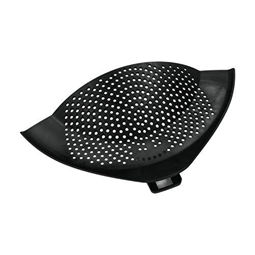 Abgießhilfe für Töpfe 20 bis 28 cm schwarz mit Halteclip