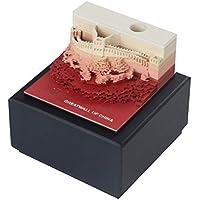 STOBOK Papel 3D Creativo Tallado Modelo de Gran muralla Nota Adhesiva Arte Nota Papel para Tomar Nota dejando un Mensaje