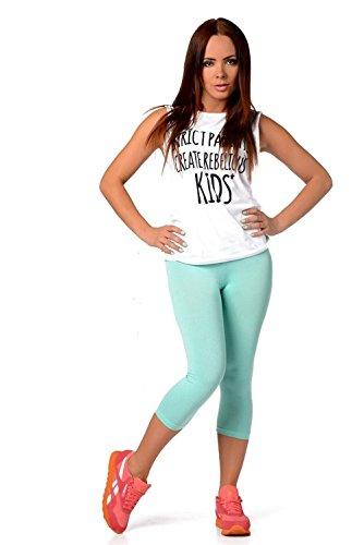 AE - Legging - Femme Vert - Mintgrün