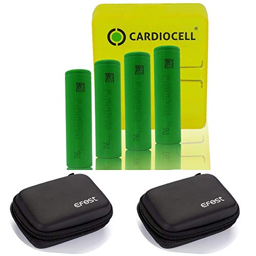 4X Package Cardiocell VTC6-ICR-18650 [3120 mAh 30A] inklusive Cardiocell Box und 2 -Zipper Case