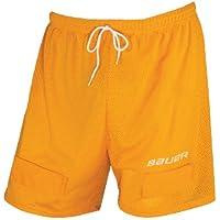 Bauer Jock Short Mesh - Senior - Pantalones cortos de hockey sobre hielo, color amarillo, talla L