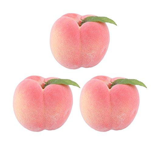 Pfirsich-schaum (Sourcingmap® 3Stk. Dekoration Haushalt Büro Schaum künstliches Obst Pfirsich Schimmel Rosa DE de)