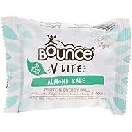 Bounce V Life Vegan Protein Energy Ball Almond Kale, 40 g, Pack of 12