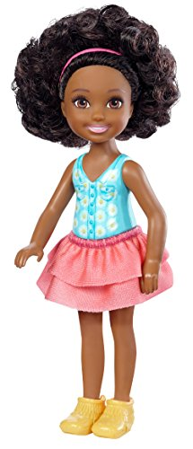 Barbie Mattel Club Chelsea Mini Doll - Flower Dress - Curly Bunchy Hair Dark Skin (Dwj27) Chelsea Bouquet