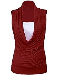 Fast Fashion – Haut De Taille Ordinaire, Plus Col Cagoule Veste Intérieure 2 En 1 Tunique De Style Sans Manches - Femmes