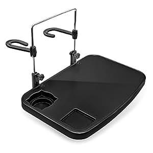 relaxdays klapptisch f rs auto an r cksitz und lenkrad zum einh ngen mit getr nkehalter. Black Bedroom Furniture Sets. Home Design Ideas