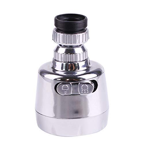 WE-WIN 360°-Drehbarer Sprühkopf-Adapter für Wasserspar-Wasserhahn, Luftsprudler silber (Wasserhahn Luftsprudler Adapter)