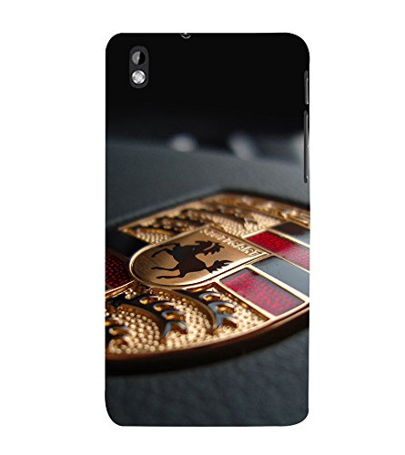 printtech Superfast Car Horse Logo Back Case Cover for HTC Desire 816G dual sim