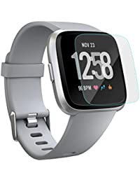 87e9dedd7eb for Fitbit Versa Screen Protector,Sansee Highly Transparent Clear Screen  Protection Film for Fitbit Versa