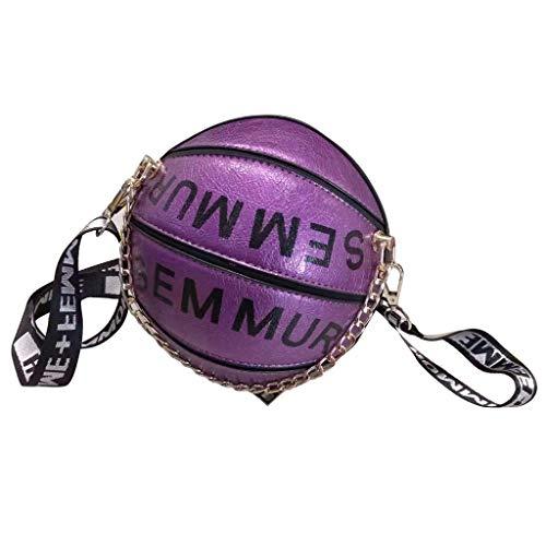 Catyrre Basketball Football Shaed Shoulder Messenger Tasche Tasche Mini Crosos Body PU Handtasche Handtasche Mit Kette -