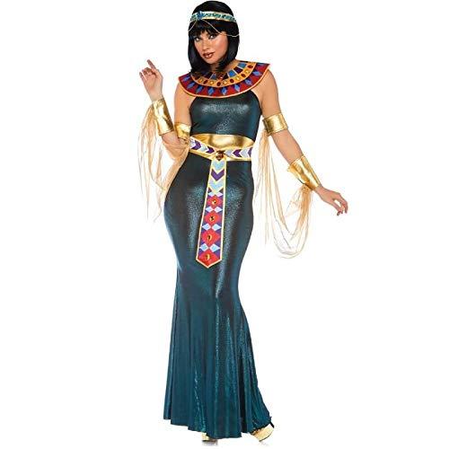 1 4 teilig Set Nil Göttin, Damen Karneval Kostüm Fasching, Mehrfarbig, Größe S/M (EUR 36-38) ()