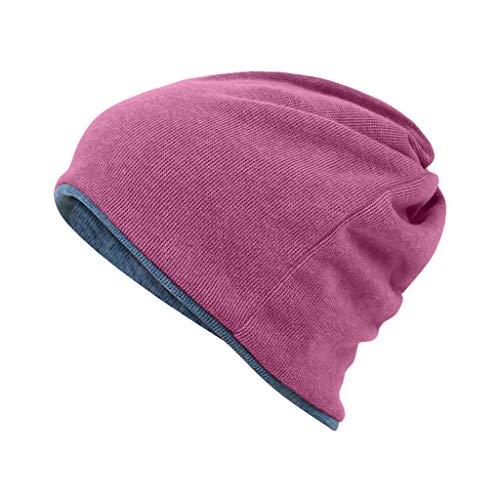 Nosterappou Komfortable Herbst- und Wintermützen für Männer und Frauen, hautfreundliche Stoffe, elastischer Kopfumfang, winddicht und warm, multifunktionale Kleidung, Schutz für Kopf und Ohren vor ()