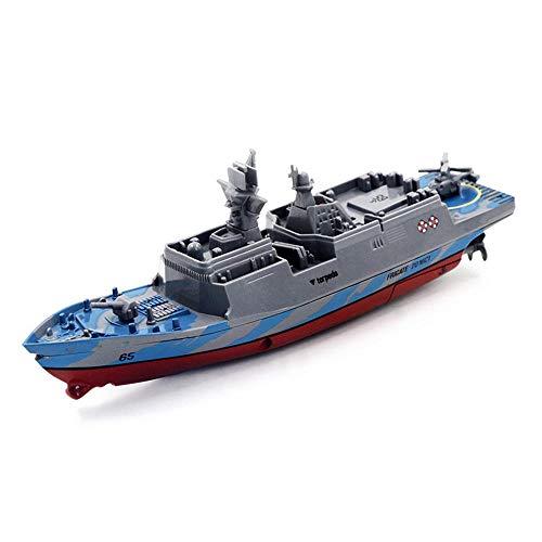 Tawcal RC Ferngesteuertes Boot,Mini Militär Funkfernbedienung Kriegsschiff Schlachtschiff Modell Elektrisches Wasserspielzeug für Kinder,Grau