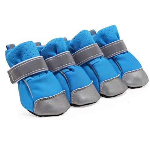 Donad Atmungsaktive Hundeschuhe Sommer Reflektierende Magische Aufkleber Weicher Boden Strapazierfähiger, abriebfester, stilvoller Sandalen für Hunde