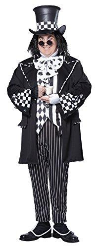 Hutmacher XXL Kostüm Halloween Alice im Wunderland Karneval Verkleidung Herren (Plus Size Alice Im Wunderland Halloween Kostüme)