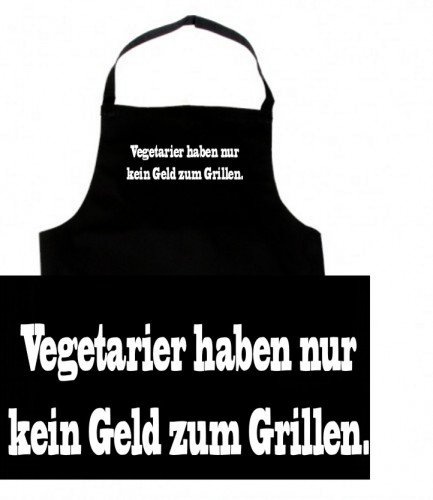 Touchlines vegetarier ont pas seulement de l'argent pour barbecue tablier de barbecue avec inscription en allemand