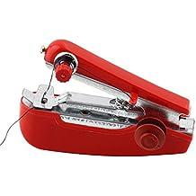 GOLDEN SPIKE® Alta Calidad Mini Portátil de Mano Manuala Máquina de Coser para la Costura Remendar Ropa de Casa (Rojo)