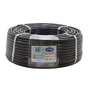S&M 010033 Manguera para riego por Goteo, 12 mm x 100 m, Color Negro, 45.00×45.00×15.00 cm
