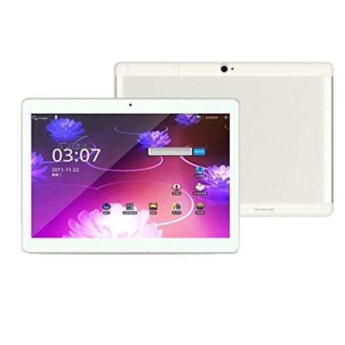 samLIKE 10,1 '' Tablet PC Mic WIFI Android 6,0 Octa Core 4 + 10,1 Zoll 2 SIM 4G HD (Silber)