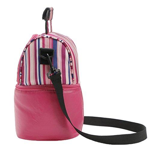Striped Doppio Colore Multicolore Scialle Picnic Bag,Blue Red