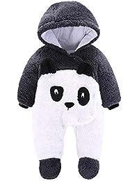 Pelele Bebe Invierno Unisex Recién Nacido Niña Niño Bodies Disfraces  Animales Panda Pato Pinguino Pollito Monos con Capucha Caliente… d07f6e76a32f