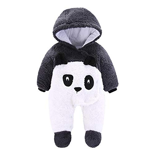 Pelele Bebe Invierno Unisex Recién Nacido Niña Niño Bodies Disfraces Animales Panda Pato Pinguino...