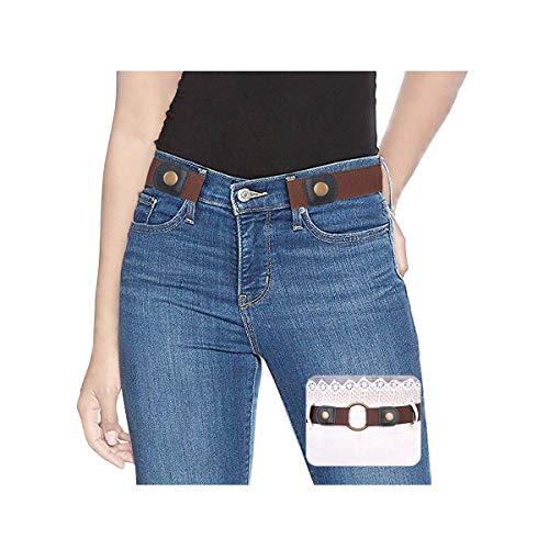 SUOSDEY Elastischer Gürtel Damen Herren Stretchgürtel Damen Unsichtbarer Gürtel Ohne Schnalle Für Jeans Hosen Taillen Gürtel Damen keine Schnalle - Für Taille Die Gürtel