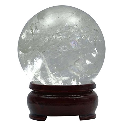 Harmonize Curación Con Cristales De Cuarzo Cristalino De La Esfera De
