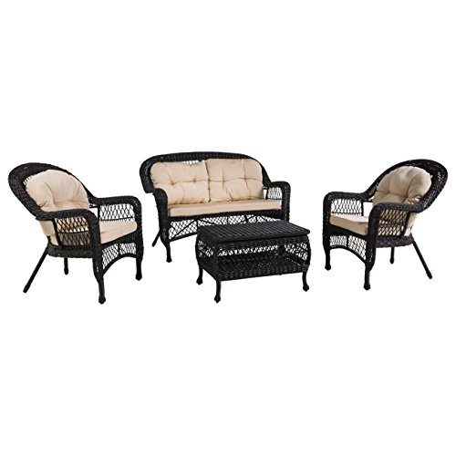 OUTLIV. Vintage Gartenmöbel Mississippi Polyrattan Sofagruppe 4-tlg. Outdoor Sitzgruppe Wetterfest