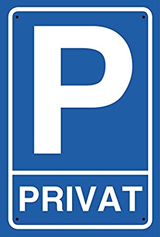 'Private Parking Sign Parking aluminium sign with 4Hole Holes (4mm), 30x 20cm