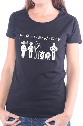 Mister Merchandise Cooles Damen T-Shirt Friends , Größe: M, Farbe: Schwarz