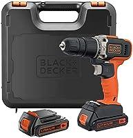 Black+Decker Hammer Drill 18V + 2 x 1.5Ah Battery Kitbox, BCD003C2K-GB
