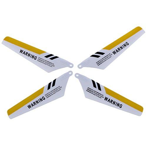 TOOGOO(R) Rotorblatt Set von 4 Ersatz Rotorblaetter fuer s107 rc Hubschrauber Gelb (Rotorblätter Spielzeug-hubschrauber)